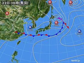 実況天気図(2017年06月22日)