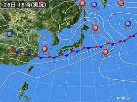 実況天気図(2017年06月25日)
