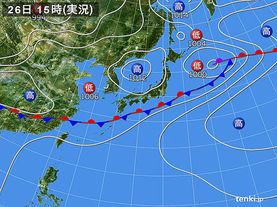 実況天気図(2017年06月26日)