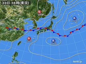 実況天気図(2017年06月30日)