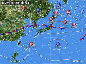 実況天気図(2017年07月02日)