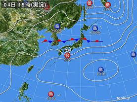 実況天気図(2017年07月04日)