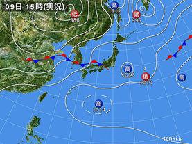 実況天気図(2017年07月09日)