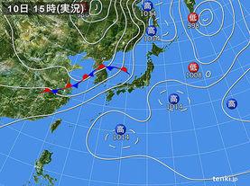実況天気図(2017年07月10日)