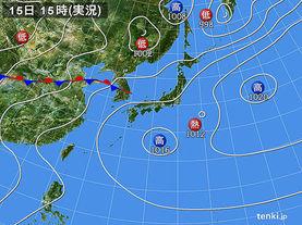 実況天気図(2017年07月15日)