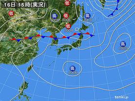 実況天気図(2017年07月16日)