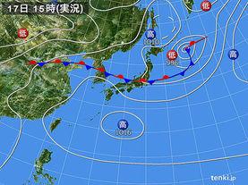 実況天気図(2017年07月17日)