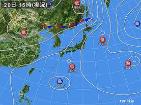 実況天気図(2017年07月20日)