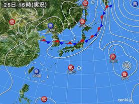 実況天気図(2017年07月25日)