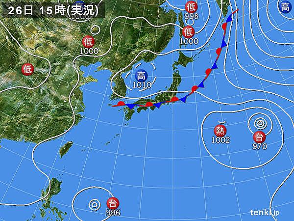 実況天気図(2017年07月26日)