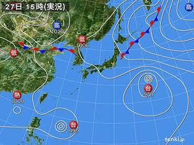 実況天気図(2017年07月27日)