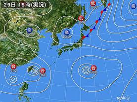 実況天気図(2017年07月29日)