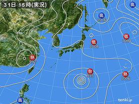 実況天気図(2017年07月31日)
