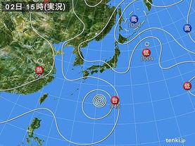 実況天気図(2017年08月02日)