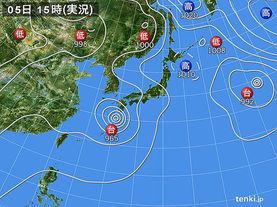 実況天気図(2017年08月05日)