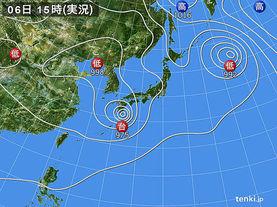 実況天気図(2017年08月06日)