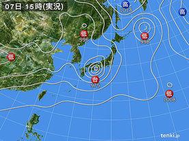 実況天気図(2017年08月07日)