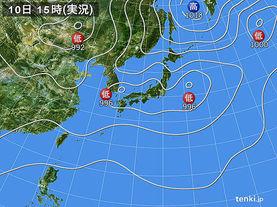 実況天気図(2017年08月10日)