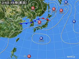 実況天気図(2017年08月24日)