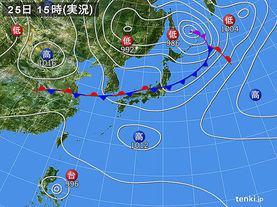 実況天気図(2017年08月25日)