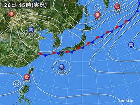 実況天気図(2017年08月26日)