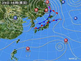 実況天気図(2017年08月29日)