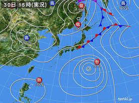 実況天気図(2017年08月30日)