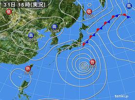 実況天気図(2017年08月31日)