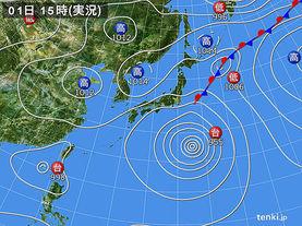 実況天気図(2017年09月01日)