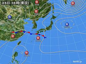 実況天気図(2017年09月05日)