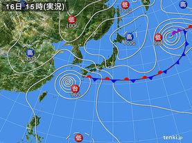 実況天気図(2017年09月16日)