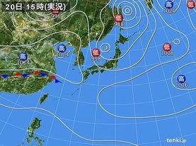 実況天気図(2017年09月20日)