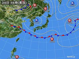 実況天気図(2017年09月25日)