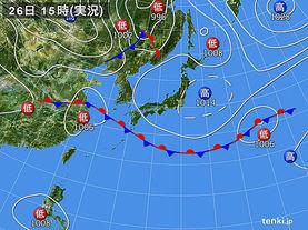 実況天気図(2017年09月26日)