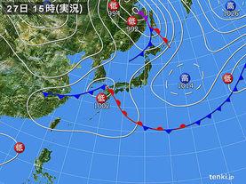 実況天気図(2017年09月27日)
