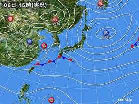 実況天気図(2017年10月06日)