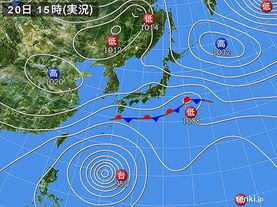 実況天気図(2017年10月20日)