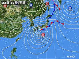 実況天気図(2017年10月22日)