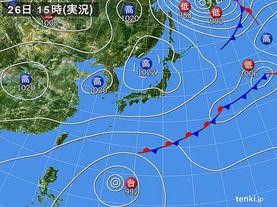 実況天気図(2017年10月26日)