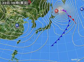 実況天気図(2017年10月30日)