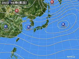 実況天気図(2017年11月06日)