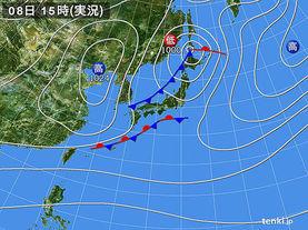 実況天気図(2017年11月08日)