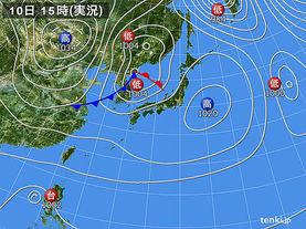 実況天気図(2017年11月10日)