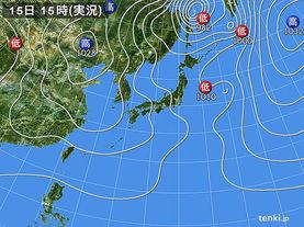 実況天気図(2017年11月15日)