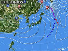 実況天気図(2017年11月19日)
