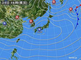 実況天気図(2017年11月25日)