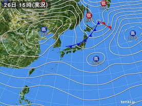 実況天気図(2017年11月26日)