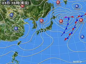 実況天気図(2017年12月05日)
