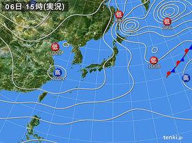 実況天気図(2017年12月06日)