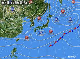 実況天気図(2017年12月07日)